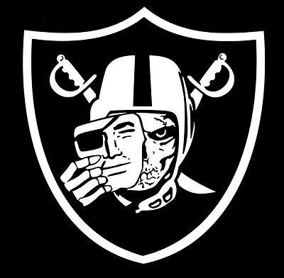 Oakland Raiders Skull Logo Window Door Car Truck SUV Vinyl Sticker Decal V02 2