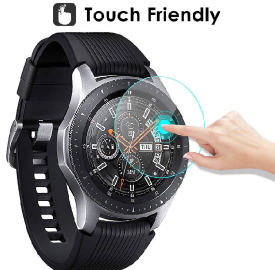 3xPACK Genuine Samsung Galaxy Watch 42/46mm 9H Tempered Glass Screen Protector 4