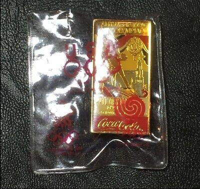 Olympic Poster Pin Badge~Paris 1924~Coca Cola~1988~Coke~In Original Packaging!