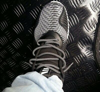"""Black 54/"""" 3M Rope Shoe Laces With Gold Tip Kith Jordan boost asics yeezy XI"""