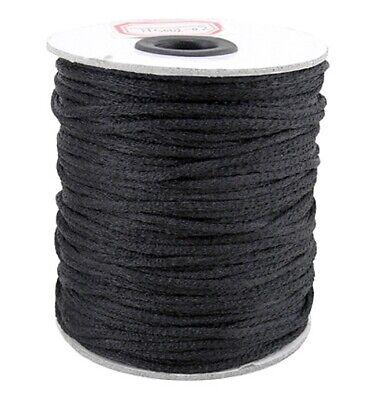 2mm Satin Rattail Cord Shamballa Nylon Macrame Kumihimo String 10