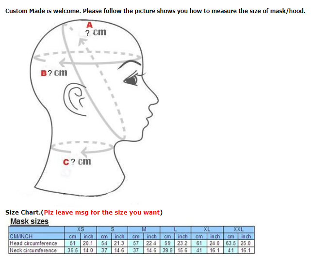 Sexy Latex Full Face Hood Semi-Transparent Face Rubber Mask Unisex for Men Women 2