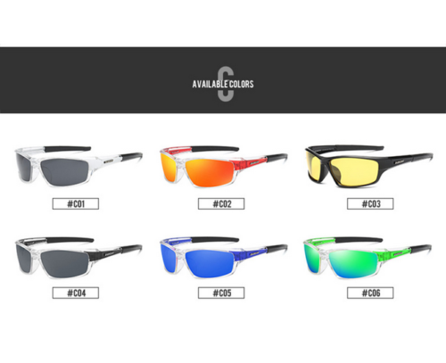 DUBERY Mens Polarized Sport Sunglasses Outdoor Riding Fishing Goggles New 2019 7