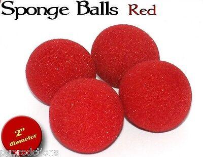 """Lot 12 RED SPONGE BALLS Magic Trick Close Up 2/"""" Soft Foam Magician 3 Sets Dozen"""