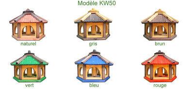 Mangeoire d'oiseaux mangeoires à oiseaux mangeoire avec le support bois jardin 9