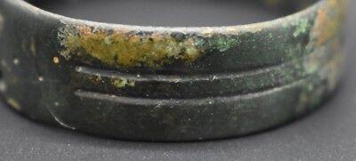 Ancient Bactrian bronze decorated bracelet C. 500 BC 5