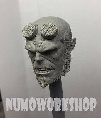 "Two Face 1//6 Scale CUSTOM UNPAINT HEAD for 12/"" Body Figure by Numoworkshop"