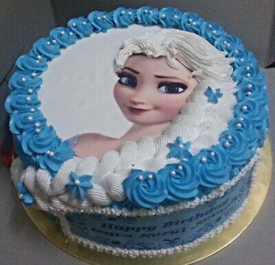 Frozen Elsa Eiskönigin Eßbar Tortenbild Tortenaufleger Party Deko Geburtstag neu 2