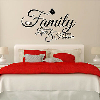 Notre famille Moments To Love Wall Art Autocollant Citation-Wa21