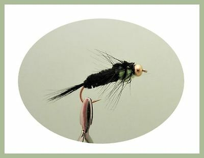 Fishing Flies Goldhead Trout Flies SF5Q 50 Pack Mixed Buzzer and Nymphs