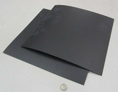 "Polypropylene Sheet Black Formex Flame Retardant .062/"" x 12/"" x 12/"" 2 Pieces"