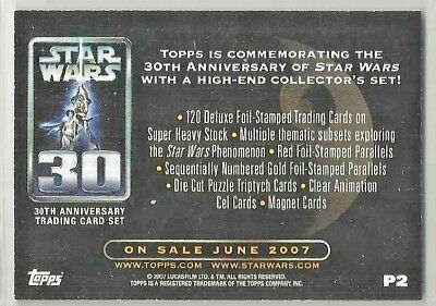 STAR WARS 30TH ANNIVERSARY 2007 TOPPS PROMO CARD P1