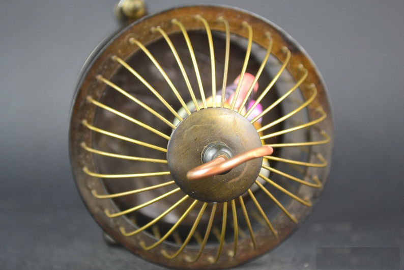 Rare brass bird cage Mechanical Table Clock Alarm Clock 6