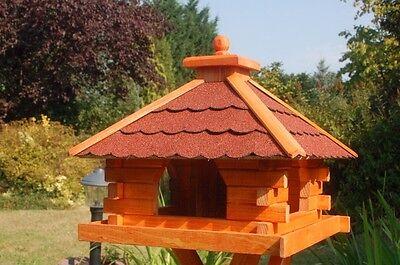 XXL Futterhaus Vogelhaus mit Bitumenschindeln Solar möglich vers Dachfarben V20