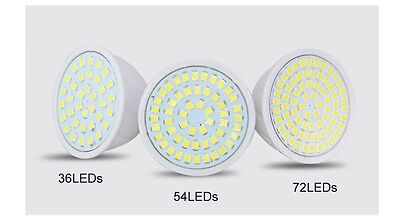 LED Spot Strahler Lampe Leuchtmittel Weiß Warmweiß GU10 E27 MR16 3W 5W 7W 220V 12