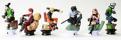 Naruto Character Figures Chess 6pc Set: Uzumaki Kakashi Sasuke Gaara Sakura Mini 3