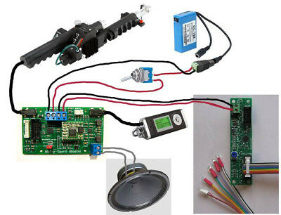 10W Proton Pack Sound Board &coupler for Matty Mattel Ghostbusters Neutrino Wand 5