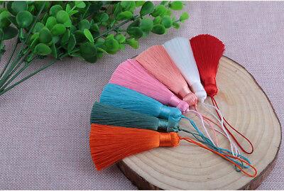 Hot 8cm 26 Colors Ice Silk Fat Tassel Trim Jewelry Making DIY Key Chian Pendant 8