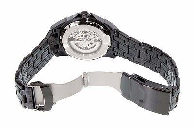 Bulova Men's 98A147 Automatic Skeleton Dial Black Bracelet 43mm Watch