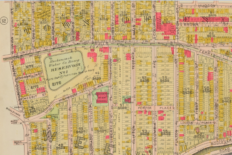 1909 WEST HOBOKEN WEEHAWKEN HUDSON COUNTY NEW JERSEY COPY PLAT ATLAS MAP UNION