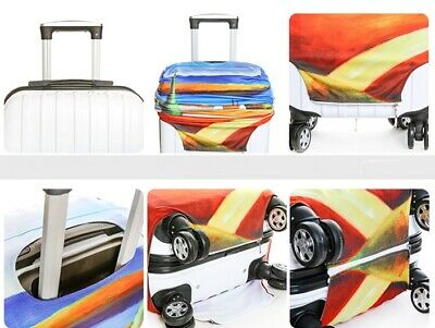 """18"""" - 32"""" Elastic Luggage Cover Suitcase Protector Dustproof Protective Case Bag 5"""