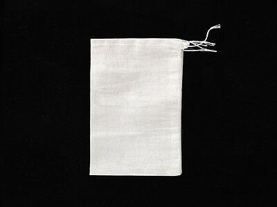50 / 100 Pack Natural Cotton Muslin Drawstring Bags Soap Herbs 3x4 4x6 6x8 8x12