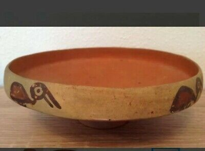 Pre-Columbian pottery bowl with birds - Ica culture Peru - 19 cm 3