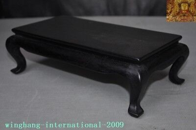 Old Chinese Rosewood Wood Carved Ancient Furniture coffee table Tea table desk 3