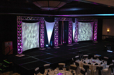 Square Flat Panel, Stretch Screen, Spandex Backdrop, 10' X 10' Stretchyscreens