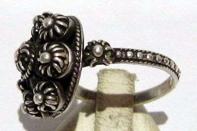 Amazing Post-Medieval Silver Ring With Beautiful Filigree  # 395 4