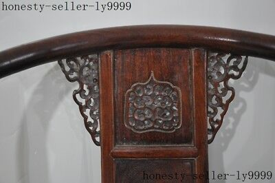 """40""""old Chinese Yellow pear wood master Hand carved chair Tea table coffee table 2"""
