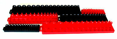 168pc GOLIATH INDUSTRIAL SOCKET TRAY RACK RAIL HOLDERS RED/BLACK DEEP SHALLOW