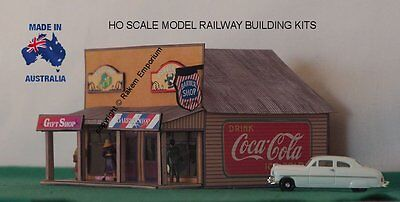 HO Scale Country Shops 3D Twin Shops Model Railway Building Kit TSBG1