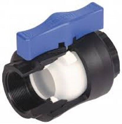 "Hansen Nylon Full Ball Valve, Frost Friendly, 16 Bar, 1/2"" to 2"" Sizes Available 4"