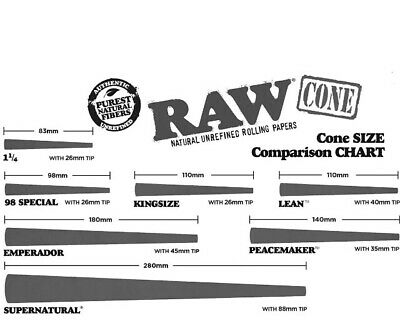 RAW Classic 98 special Size Pre-Rolled Cones (100 Pack) 100%AUTHENTIC 6