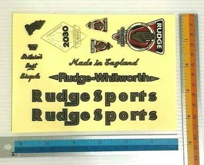 RUDGE VINTAGE BIKE BICYCLE CLASSIC RETRO OLD BICYCLE STICKER DECAL 1 SHEET