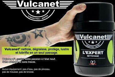 Boîte de 60 lingettes VULCANET lavage nettoyant lustrage moto voiture rally NEUF 2