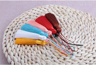 Hot 8cm 26 Colors Ice Silk Fat Tassel Trim Jewelry Making DIY Key Chian Pendant 7