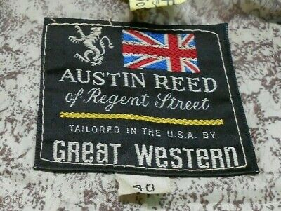 Austin Reed Great Western Vintage Mens Western Jacket Beige Size 40 Made In Usa 69 95 Picclick
