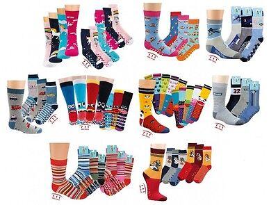 3 Paar Kinder Jungen Mädchen ABS/Stopper-Socken Fliesenflitzer Gr. 19/22-39/42 3