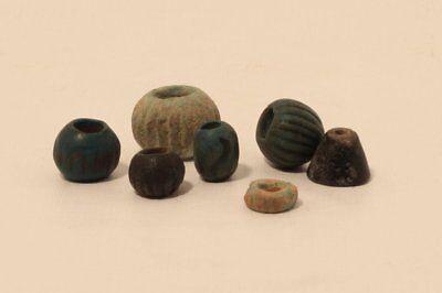 Egypt 2300-1600 bc faience bead group 2