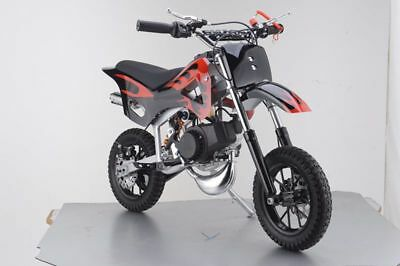 49Cc Mini Motor Dirt Bike Kids Pocket 2 Stroke Motorcycle Monkey Atv Black Red 2