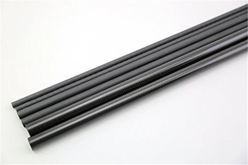 3K Roll Wrapped 17mm Carbon Fiber Tube 15mm x 17mm x 500mm Glossy or Matt for RC