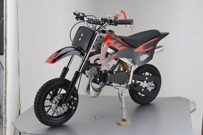 49Cc Mini Motor Dirt Bike Kids Pocket 2 Stroke Motorcycle Monkey Atv Black Red 4
