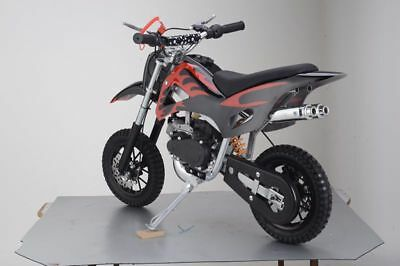 49Cc Mini Motor Dirt Bike Kids Pocket 2 Stroke Motorcycle Monkey Atv Black Red