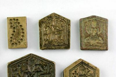 *SC*BEAUTIFUL COLLECTION OF 10 INDIAN HINDU SEALS, ca. 19th. century! 3