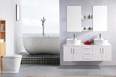 3 Von 4 Badmöbel Badezimmermöbel Badezimmer Waschbecken Waschtisch Schrank  Spiegel Set