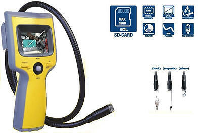 Trojan Video Borescope with Color Camera Head, 3' Flexible Shaft and DVR 3