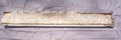 "Antique Metal Tin Ceiling Tile Crown Molding 48 3/4"" Long Reclaim Salvage 2"