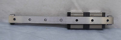 "6.75/"" Rail THK RSR12VMA Used Mini Linear Guide Rail with 2 Bearing Blocks"